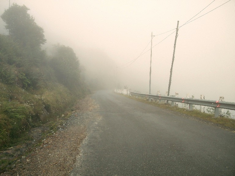 Sikkim Adventure riding in the fog